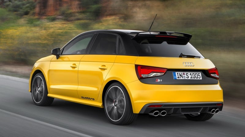 Illustration for article titled The 2015 Audi S1 Quattro Is A Furious Yellow Ball Of Fun