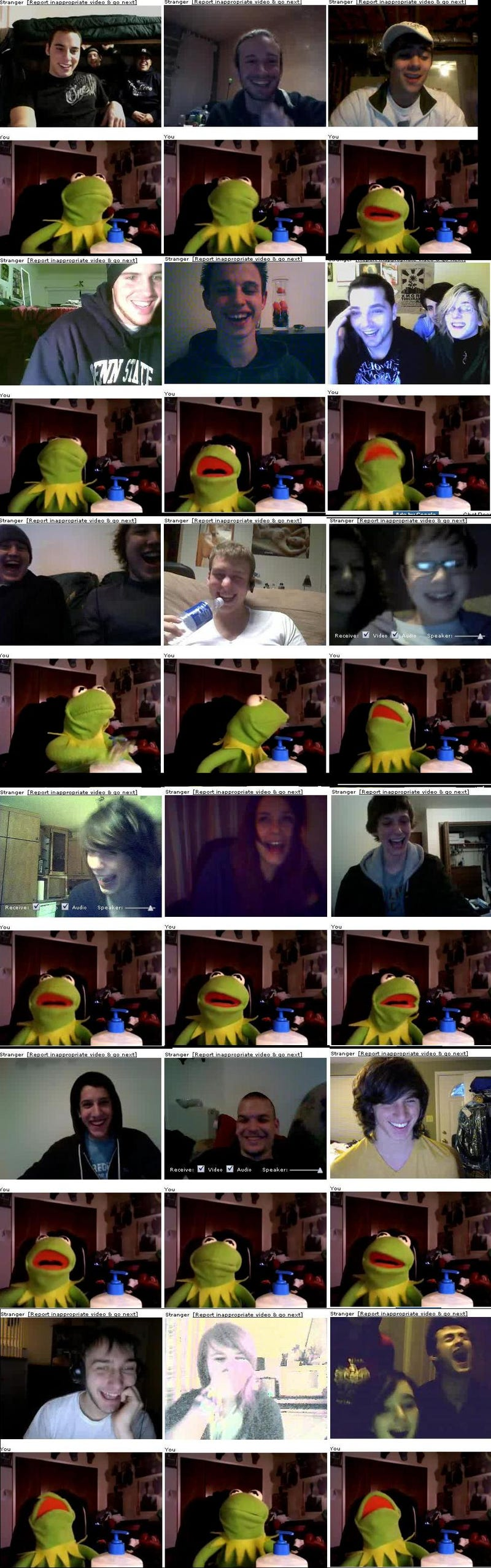 Illustration for article titled Kermit Goes NSFW In ChatRoulette