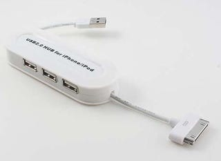Illustration for article titled Just a Cheap iPhone/iPod Adapter USB Hub