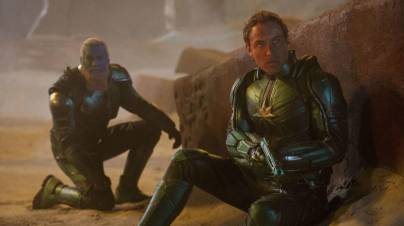 Jude Law in Captain Marvel.