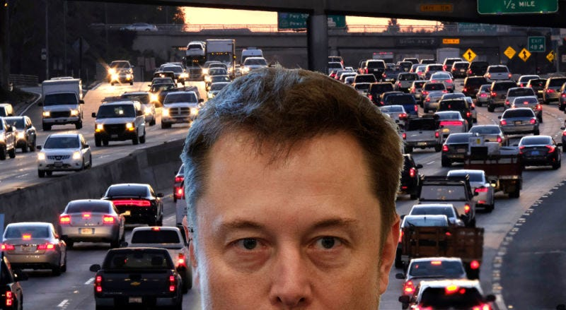 Illustration for article titled Elon Musk's Tunnel Project Is 'A Completely Absurd Pipe Dream', Government Correctly Concludes