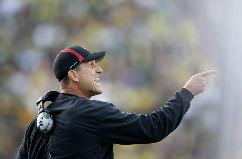 Illustration for article titled Jim Harbaugh Once Smeared A Player's Blood On His Face Like War Paint