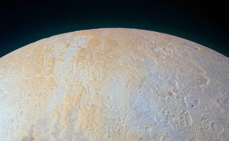 Illustration for article titled Pluto's North Pole Is Surrounded By Frozen Canyons