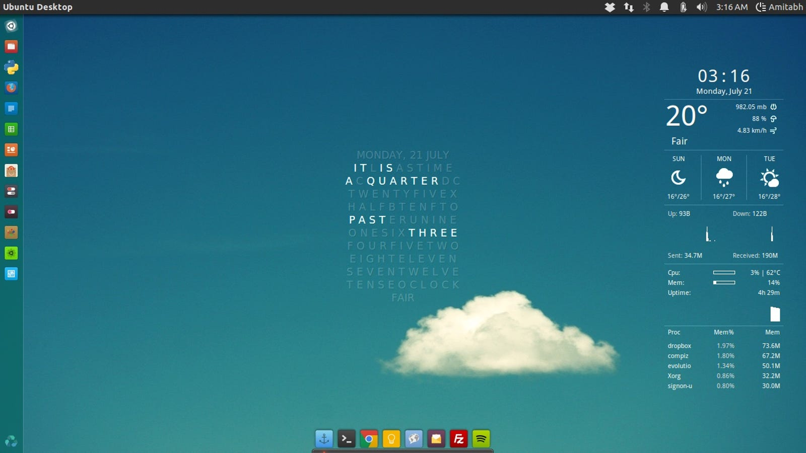 The Clear Skies Desktop
