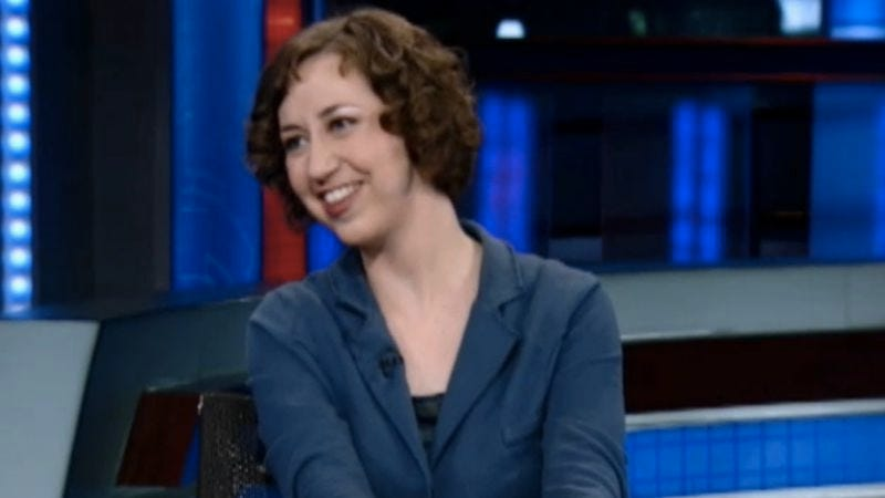 Kristen Schaal's time-capsule video (Screenshot: Comedy Central)