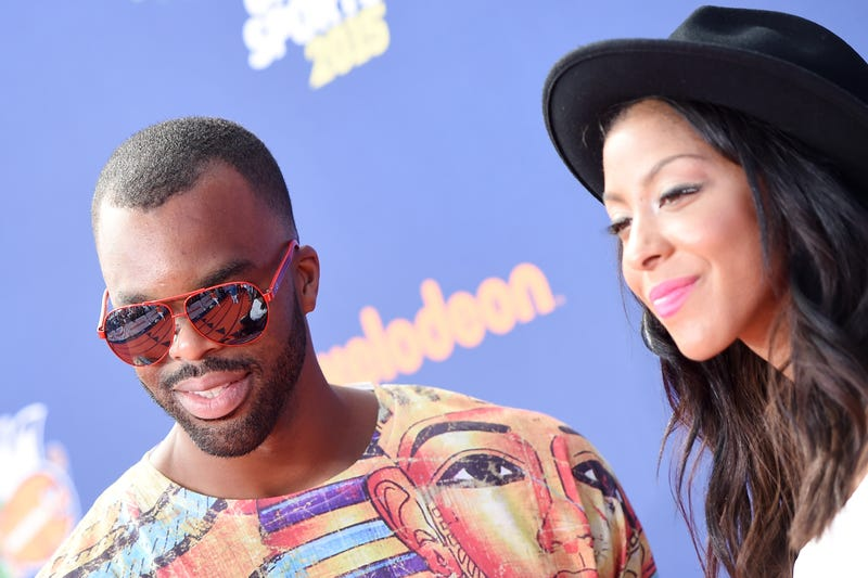 Shelden Williams and Candace Parker at the Nickelodeon Kids' Choice Sports Awards 2015 at UCLA's Pauley Pavilion on July 16, 2015, in Westwood, Calif.