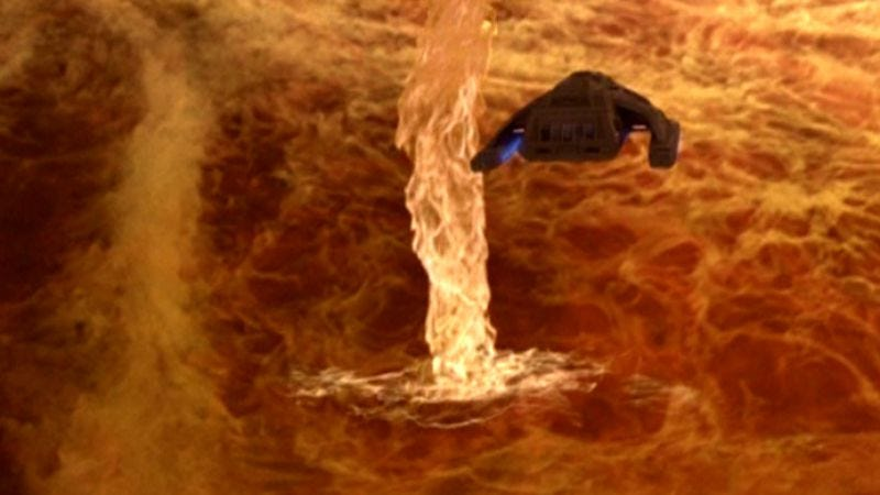 """Illustration for article titled Star Trek: Deep Space Nine: """"Blaze Of Glory""""/""""Empok Nor"""""""