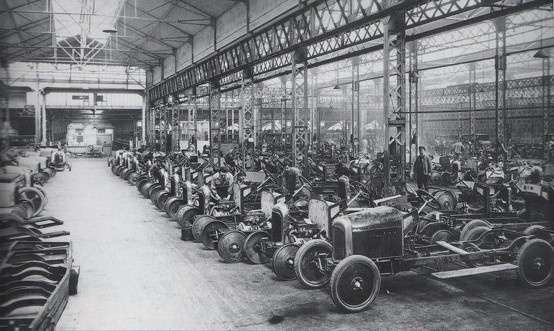 Illustration for article titled Citroën factory, 1918