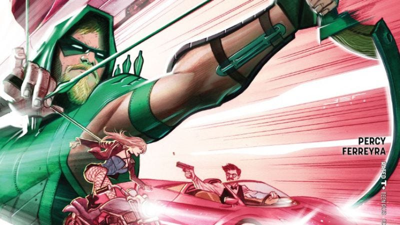 Illustration for article titled Green Arrow #11 is a stunning thrill ride on an underwater train