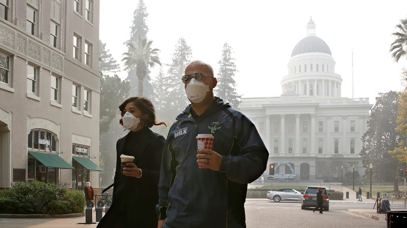 The scene in Sacramento on Thursday.