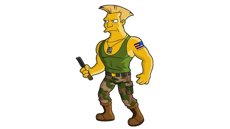 Illustration for article titled Guile, You Would Be Perfect On The Simpsons