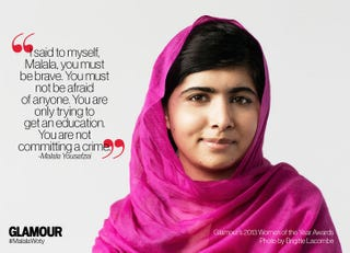 Illustration for article titled Glamour Mag Names Malala Yousafzai a Woman of the Year