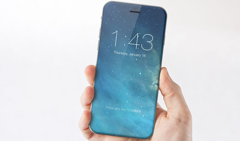 A conceptual design for a home button-less iPhone. (Image: Marek Weidlich)