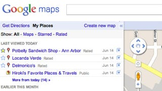 Illustration for article titled Google Is Streamlining Google Places and Maps with My Places