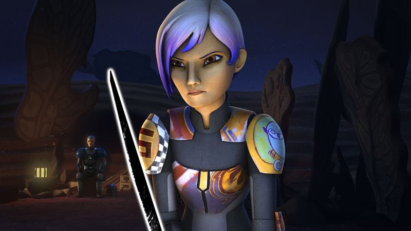 Illustration for article titled Sabine's darksaber training opens up old familial wounds in an emotionally rich Star Wars Rebels