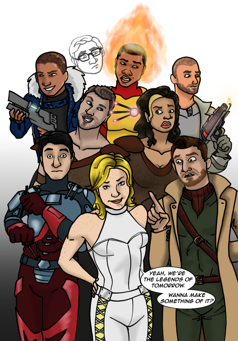 Illustration for article titled Legends of Tomorrow fanart