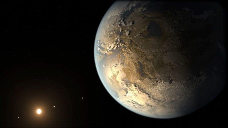 Earth-like exoplanet Kepler-186f (Image: NASA/Seti/Ames