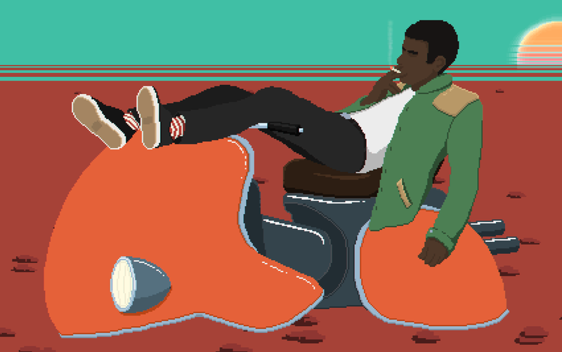 Illustration for article titled I Liked Hoverbike Racing Game Desert Child's Pitch More Than Its Execution