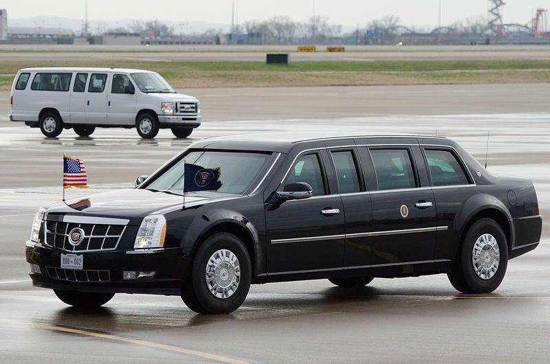 The Beast, President Obama's Limousine. (Photo: Major Dale Green, U.S. National Guard)