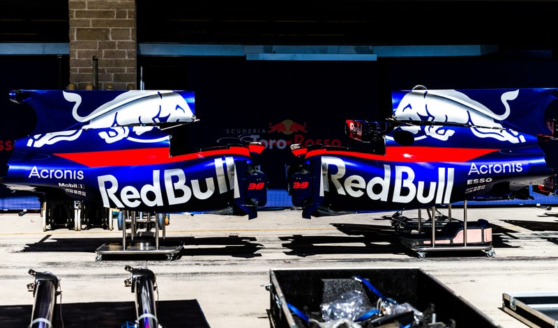 Somehow there are two numbers on Brendon Hartley's Toro Rosso parts, No. 38 and No. 39. All photos credit Kurt Bradley.