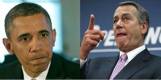 President Barack Obama (Win McNamee/Getty Images News); House Speaker John Boehner(Chip Somodevilla/Getty Images News)
