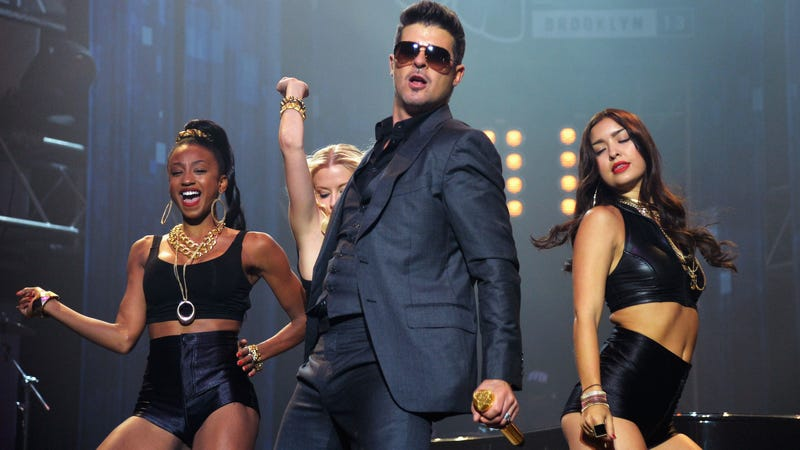 """Illustration for article titled Robin Thicke Was High When He Recorded """"Blurred Lines"""""""
