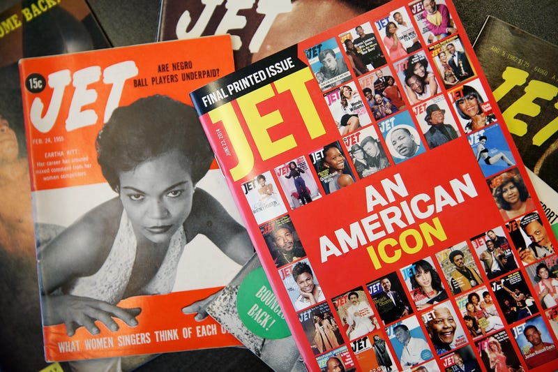 Images of Jet magazine's first and final print editions