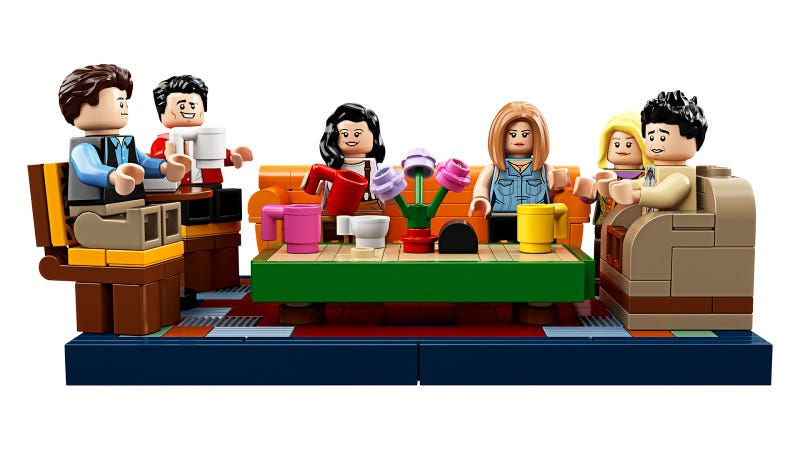 Illustration for article titled Lego's Friends Central Perk Set Is An Impressive Collection Of Tiny White People
