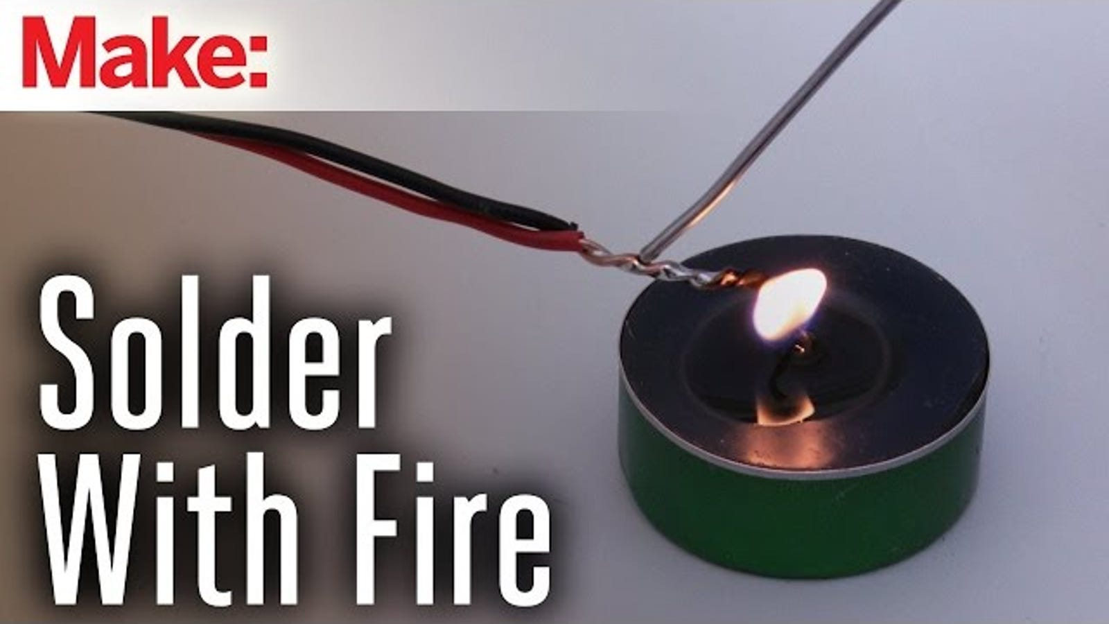 Solder without a Soldering Iron Using Steel Wire and Fire
