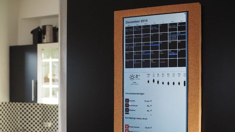Build a smart calendar and notification center for family agendas weve seen a raspberry pi combined with a cheap lcd screen to create a smart calendar before but instructables user ozua takes it a step further with a solutioingenieria Image collections