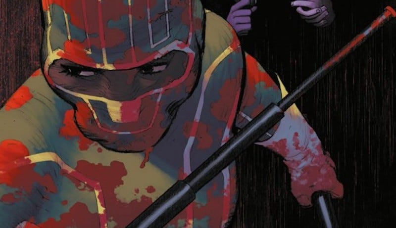Patience Lee gets ready for bloody vengeance in the cover art for Kick-Ass.