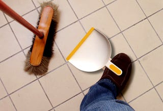 Illustration for article titled The Foot-dustpan; Simple but Useful