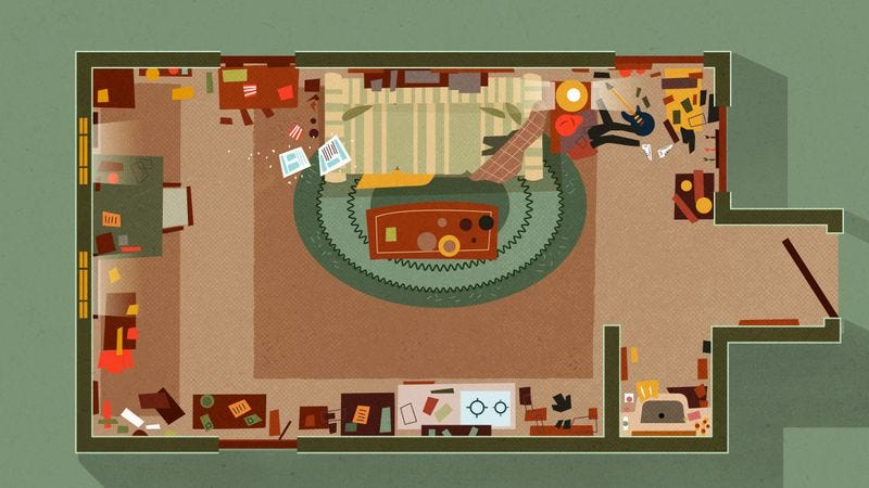 Charlie and Frank's Apartment (Illustration: Homes.com)