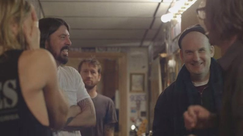 Grohl and MacKaye, among others, on an episode of Foo Fighters Sonic Highways