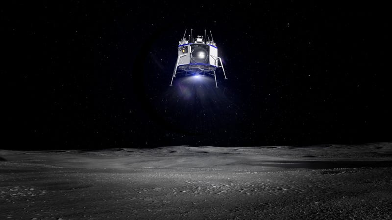 Jeff Bezos Reveals Lunar Lander Designed for 'Sustained Human Presence on the Moon'