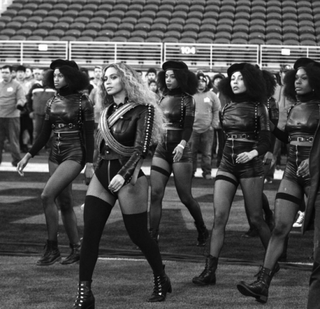 Beyoncé and her dancers at the NFL's Super Bowl 50 halftime show Feb. 7, 2016Instagram