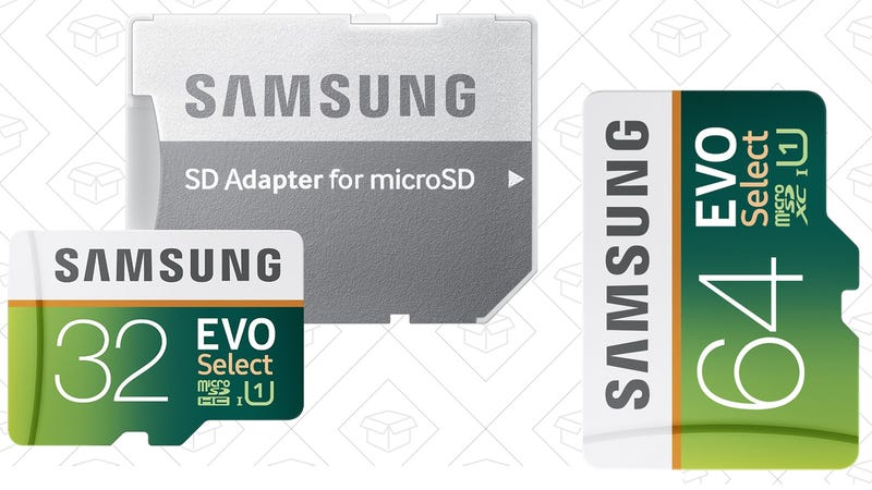 Samsung 32GB EVO Select MicroSD Card, $10 | 64GB for $20