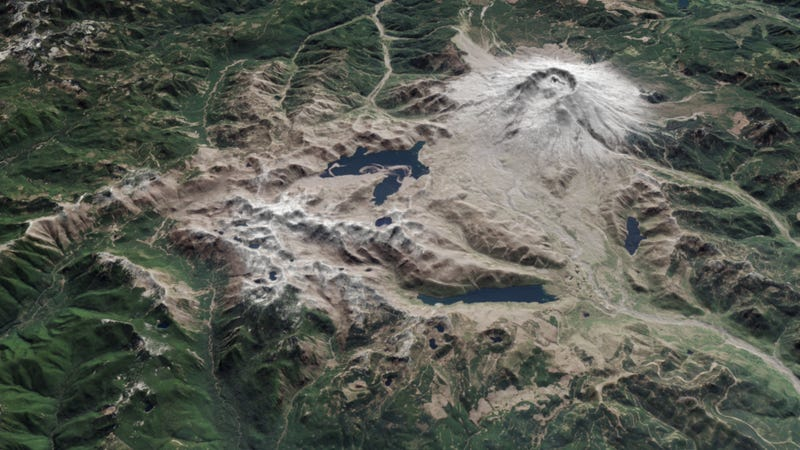 Illustration for article titled A Look At Mount St. Helens 35 Years After Its Historic Eruption
