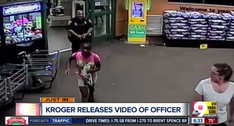 Footage from Kroger's supermarket