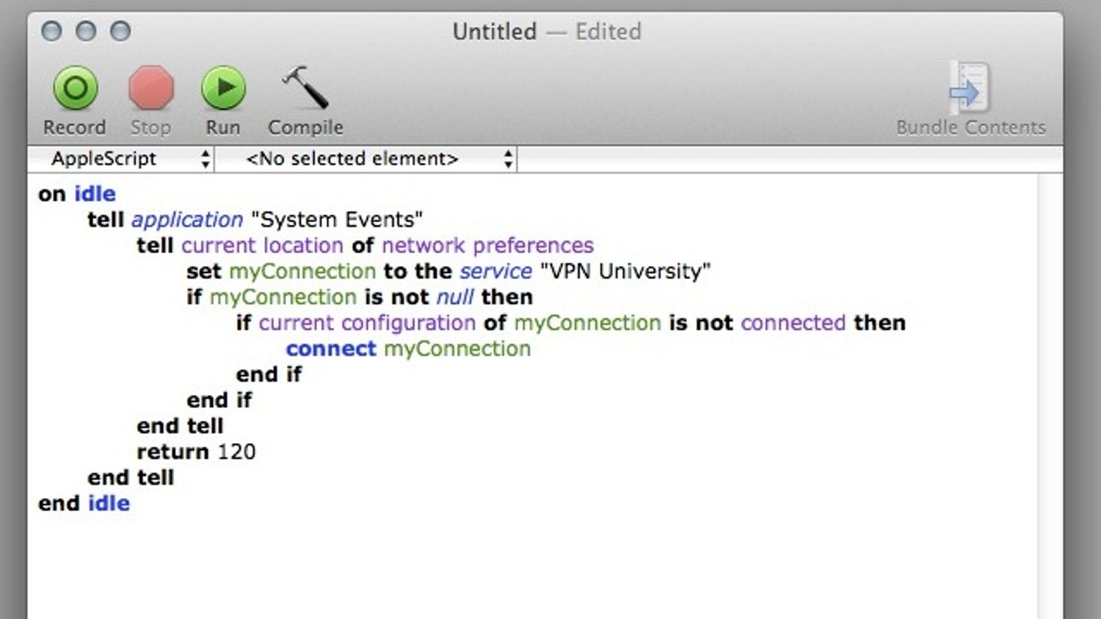 Force Mac OS X to Automatically Reconnect to VPN
