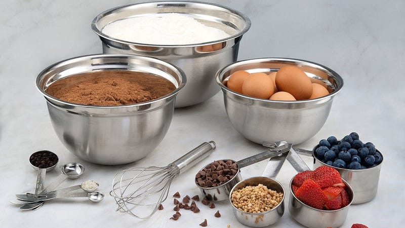 Estilo 12 Piece Stainless Steel Mixing Bowl Set, $12