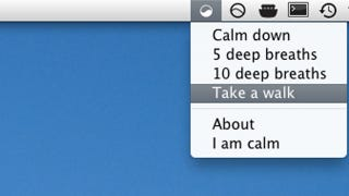 Illustration for article titled CalmDown for Mac Encourages You to Relax, Step Away From the Keyboard