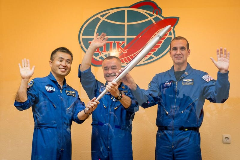 Illustration for article titled Olympic torch headed to the ISS