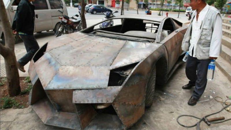 Illustration for article titled Chinese barber makes perfect fake Lamborghini