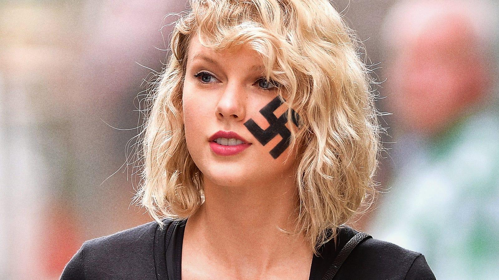 Taylor Swift Grateful Kanye West Controversy Taking Heat Off New Swastika Tattoo