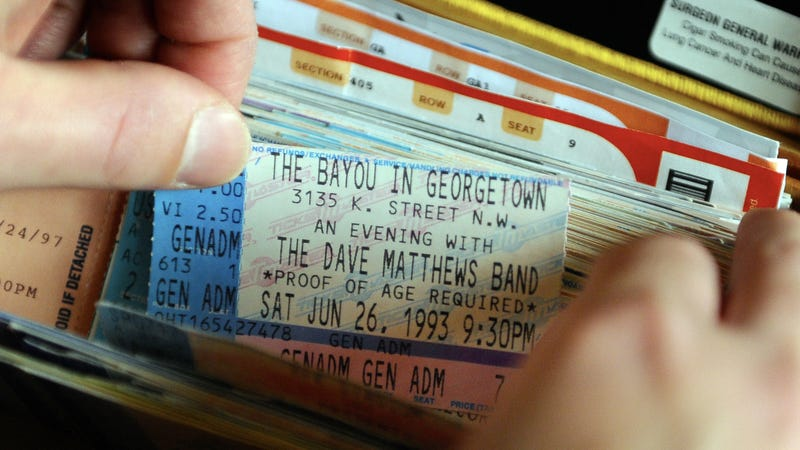 Fun fact: This is what concert tickets looked like in a pre-smartphone era.