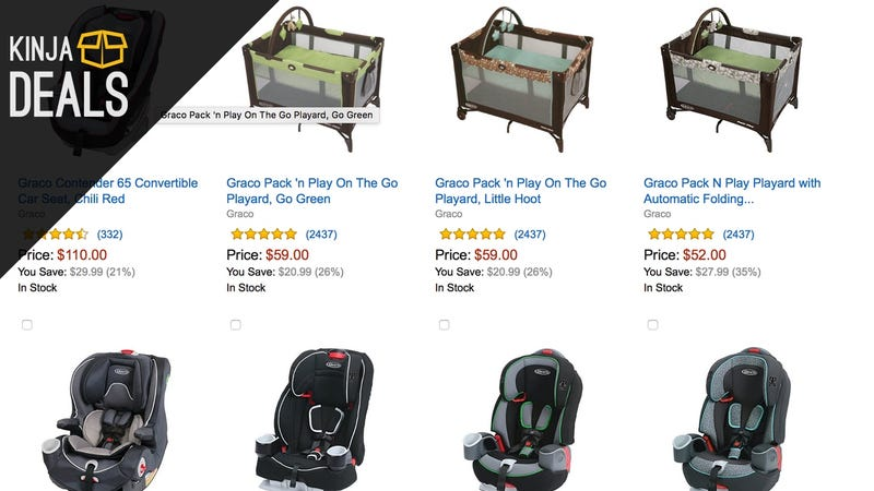 Illustration for article titled Save Up to 35% on Graco Baby Travel Gear, Today Only