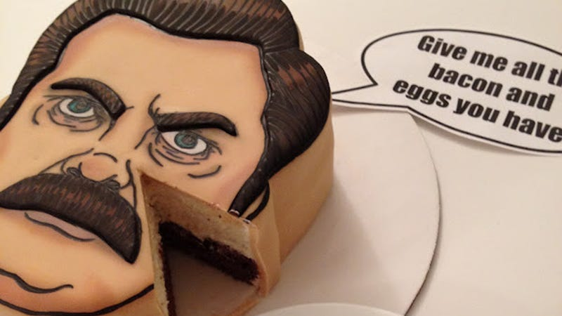 Illustration for article titled Take a Bite Out of Ron Swanson with This Ron Swanson Cake