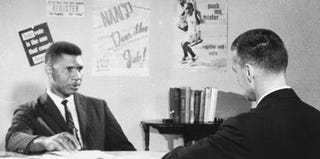 Medgar Evers in a 1962 interview with William Peters (CBS Photo Archive/Getty Images)