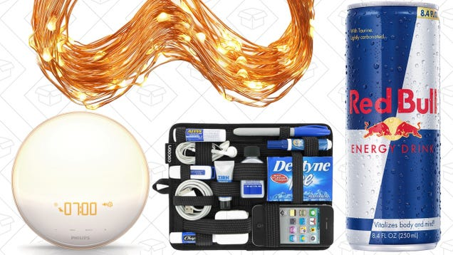 Today's Best Deals: Wake-Up Light, Grid-It, Red Bull, and More